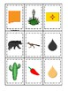 New Mexico themed Memory Matching and Word Matching preschool curriculum game