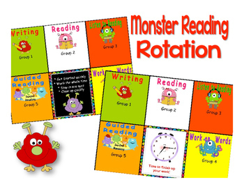 New Monster Themed Reading & Math Bundle of Automated PowerPoints with 5 centers
