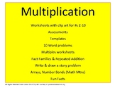 Multiplication Worksheets, Multiples, Assessments, & more!