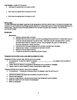 New NYS Common Core English Regents 2014 - Part 3 Practice - Charline Jordan