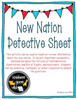 New Nation and Government Detective Sheet