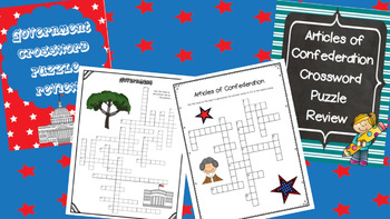 New Nation/Government Crossword Puzzle Bundle
