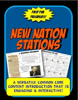 New Nation, Hamilton, Jefferson Stations Flow Chart Activity & Graphic Organizer
