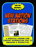 New Nation Stations Flow Chart PowerPoint Activity & Graph