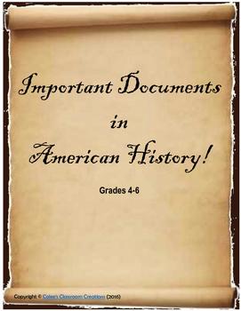 New Nation History Activity (Declaration, Constitution, Bi