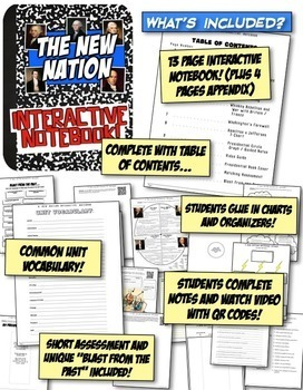 New Nation Interactive Notebook! Active Learning on Washington, Adams, Jefferson