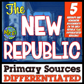 New Nation Primary Sources! Differentiated Warmups for Was