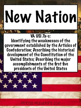 New Nation - US History to 1865 Cornell Notes
