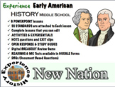 New Nation Unit: Lessons, Readings, Breakouts & Tests/ Middle School