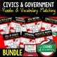New Nation Vocabulary Activity Puzzle (Print and Digital)