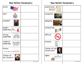New Nation Vocabulary Charts (VS.6)