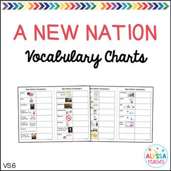 New Nation Vocabulary Charts (VS.6)