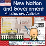 New Nation and Government Nonfiction Articles with Activities for Notebooks