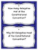 New Nation and United States Government Review Task Cards