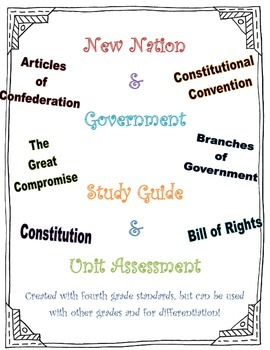 New Nation/Government Study Guide and Unit Assessment
