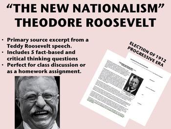 """New Nationalism"" - Theodore Roosevelt - Progressive Era - USH/APUSH"