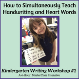 Nellie Edge Kindergarten Writing Distance Learning Course