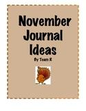 New November Journal Idea Cards