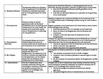 New Ohio Academic Standards Social Studies Chart Easy for Students to Follow