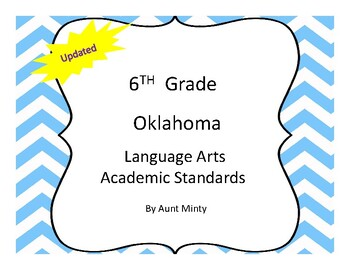 2018-2019 Oklahoma 6th Grade Language Arts Academic Standards and Objectives