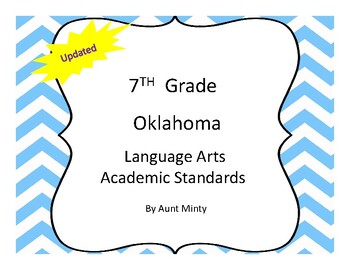 Oklahoma 7th Grade Language Arts Academic Standards and Objectives 2017-2018