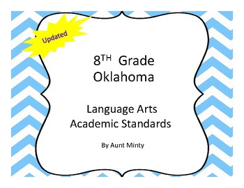 New Oklahoma 8th Grade Language Arts Academic Standards an