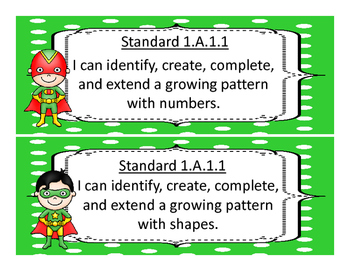 Oklahoma First Grade Math  Standards and Objectives 2017-2018