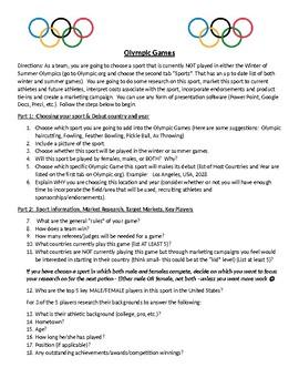 Marketing a New Olympic Sport