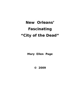 New Orleans' Fascinating City of the Dead