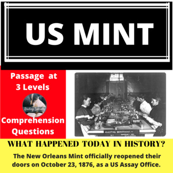 New Orleans Mint, Differentiated Reading Passage, October 23