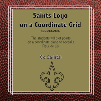 New Orleans Saints Logo on the Coordinate Plane