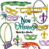 New Orleans Watercolor Clip Art