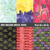 New Orleans Watercolor Digital Paper