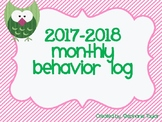 New Monthly Owl Behavior Calendar Logs for 2017- 2018 Scho