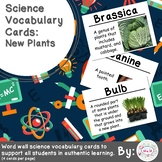 New Plants Science Vocabulary Cards