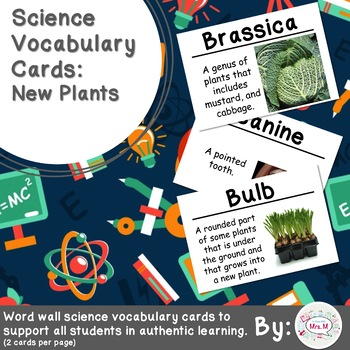 New Plants Science Vocabulary Cards Large