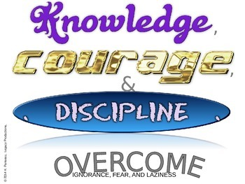 Positive Mindset Posters  - Knowledge, Courage, and Discipline