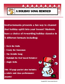 New Recycled Holiday Song Lesson