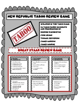 New Republic Taboo Review Game