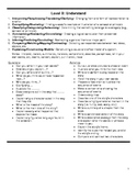 New (Revised) Bloom's Taxonomy and Written Response Reference