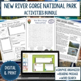 New River Gorge National Park Graphic Organizer and Word Search Bundle