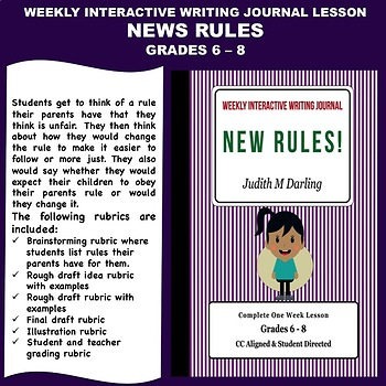 Interactive Weekly Writing Notebook Lesson - New Rules - CC Aligned