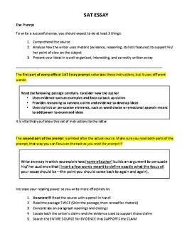 New SAT Essay: Overview and Practice Prompts