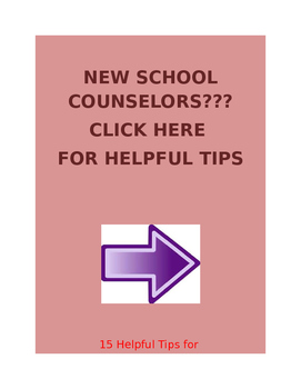 New School Counselor Tips