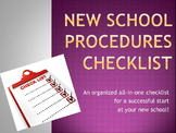 New School Procedures Checklist