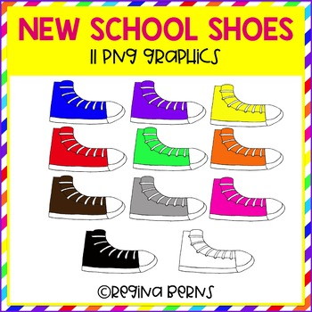 New School Shoes Clipart