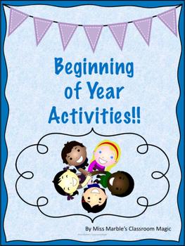Beginning of Year Activities