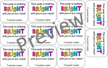 New School Year Highlighter Labels
