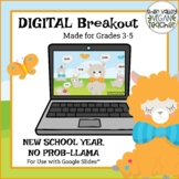 Back to School Digital Breakout Escape Room (Google Slides) Grades 3-5