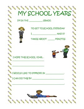 New School Year Packet